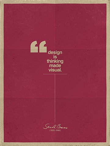 design is thinking made visual.