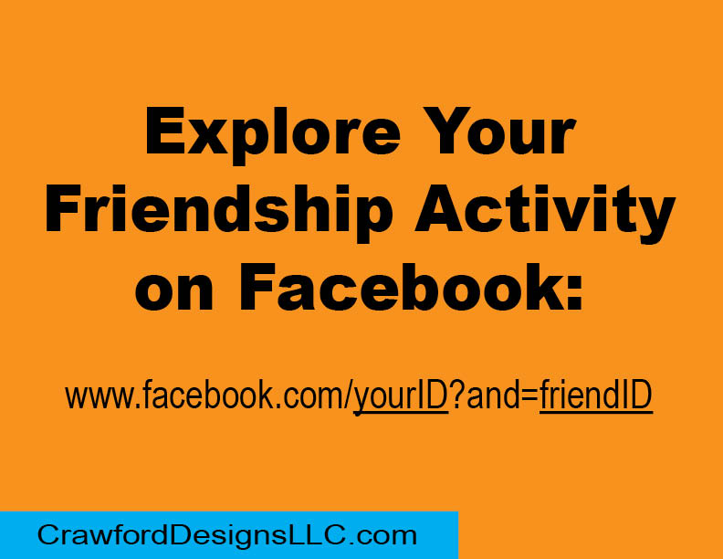 Want to review previous facebook activity with a certain friend... Simply type in this URL: www.facebook.com/yourID?and=friendID to view years of interaction. (replace YOUR actual ID and your FRIEND's actual ID in the URL to view). Example: www.facebook.com/jensmith?andjoesmith
